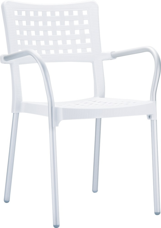 Gala Cafe Chair White