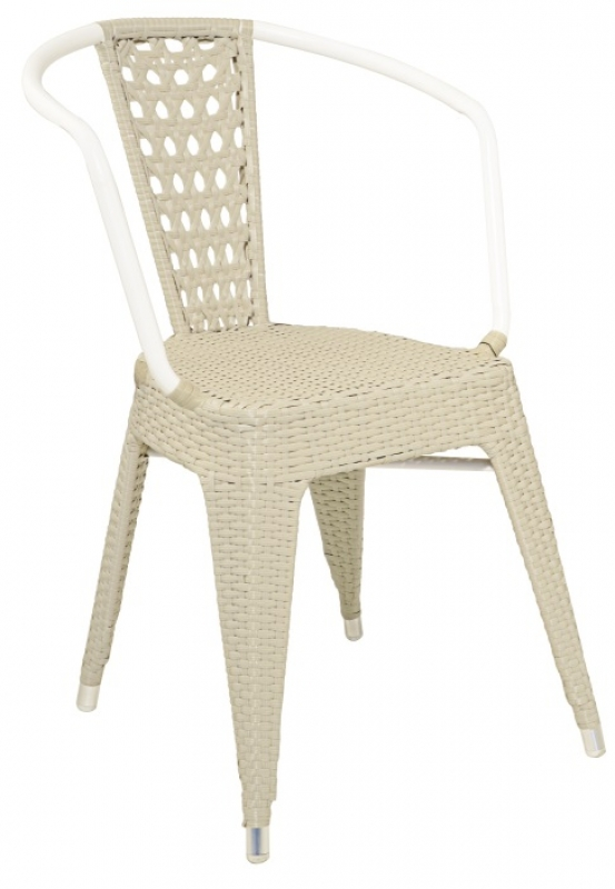 Tolix Rattan-K Chair White