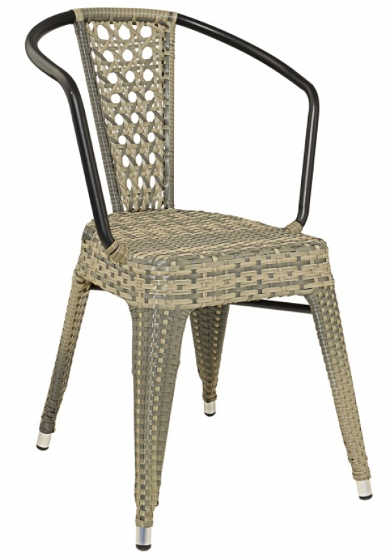 Tolix Rattan-K Chair Black