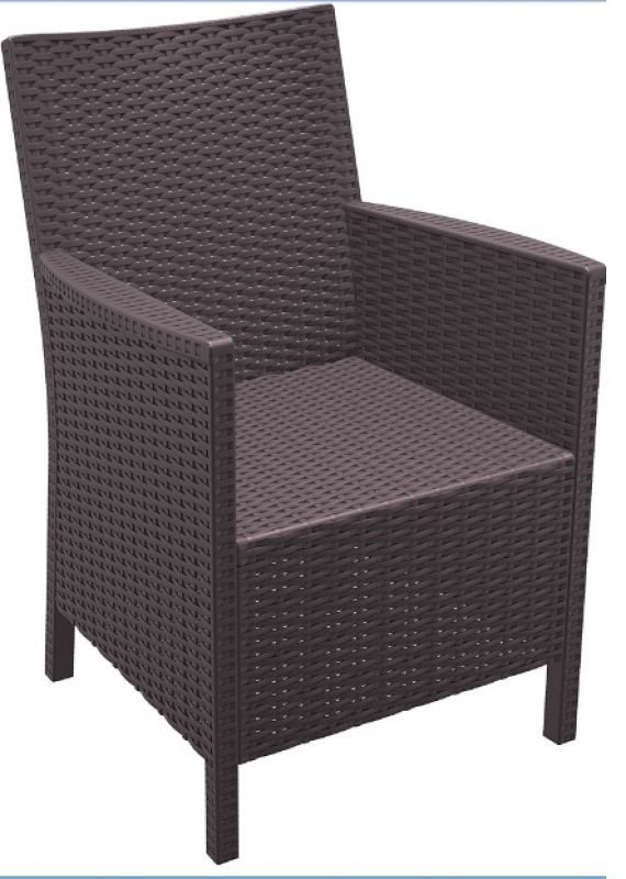 California Rattan-Looking Injection Chair