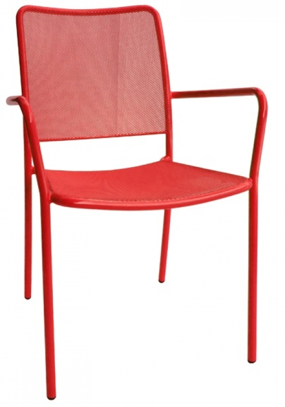 Mary Long Backed Metal Chair
