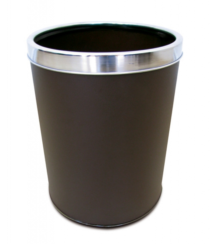 NEO-110DC Hooped Leather Trash Can
