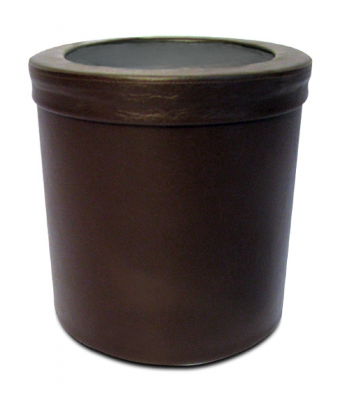 NEO-110DC-1 Leather Coated Trash Can