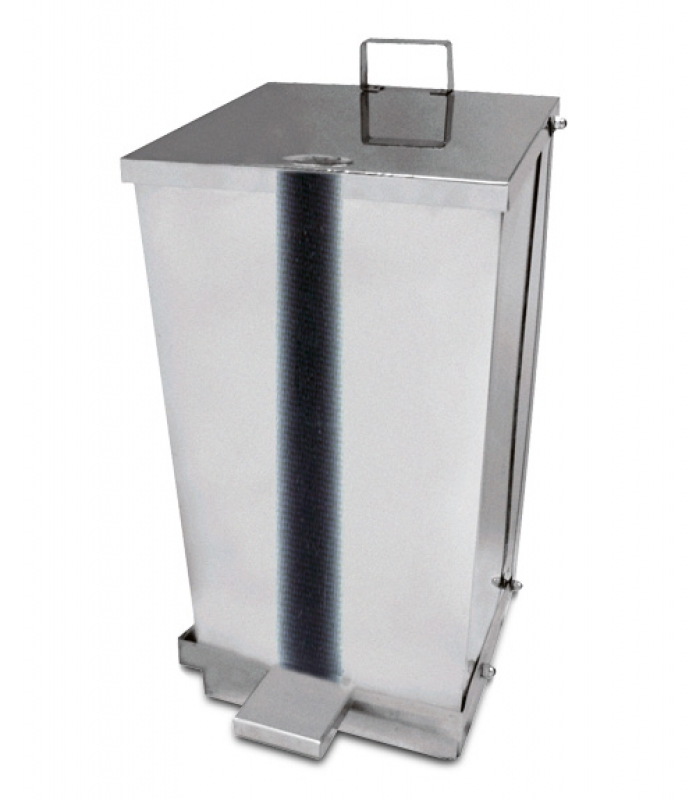 NEO-112KP Square, Stainless Step-on Trash Can