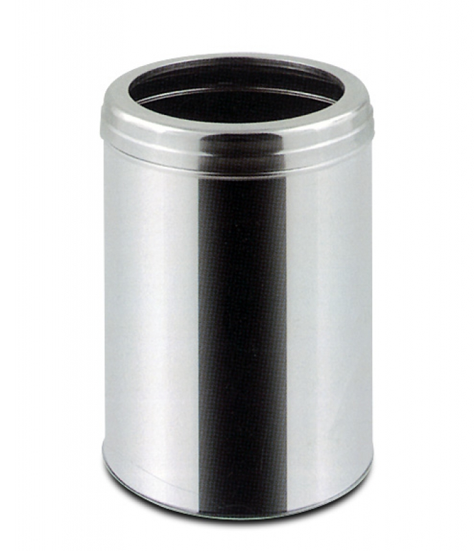 NEO-112S Stainless Hooped Trash Can