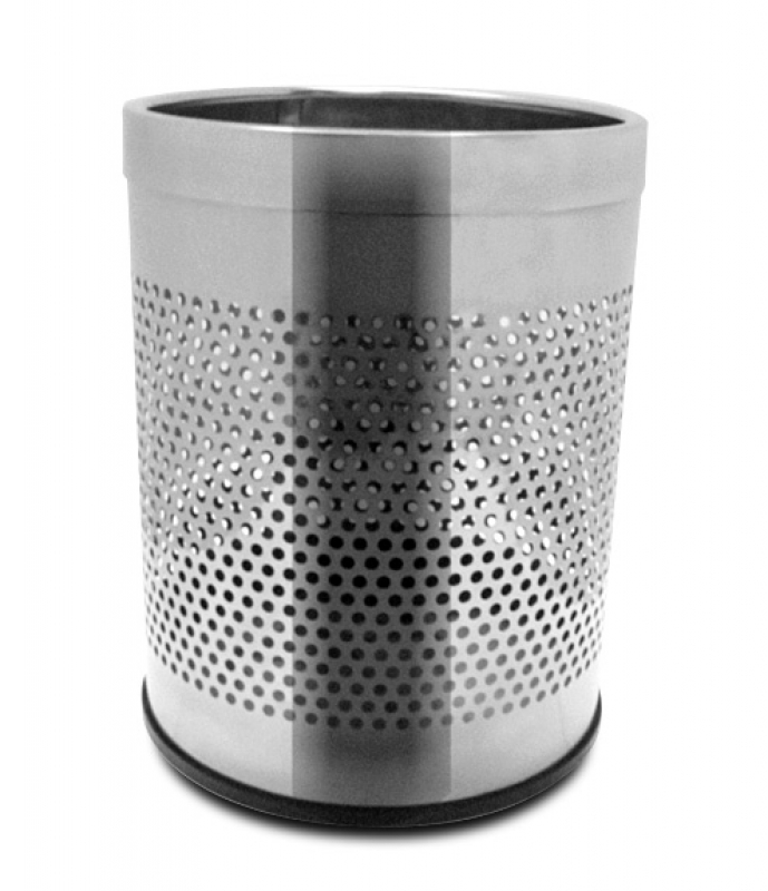 NEO-113P Stainless Hooped See-Trash Can
