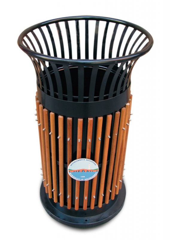 NEO-105 Wooden Cage-Shaped Trash Can