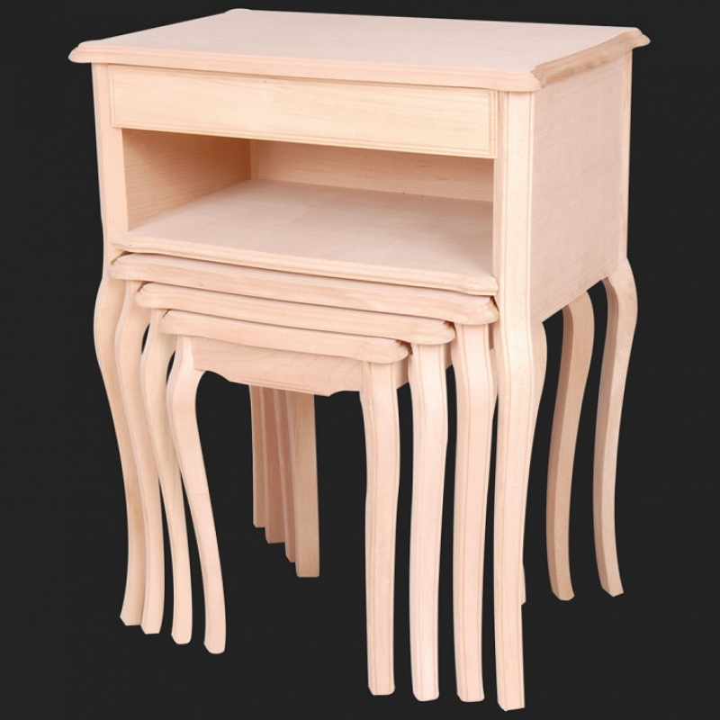 NEO-2111  Shelved Nesting Table with Drawer