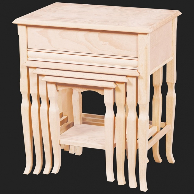 NEO-2114 Nesting Table with Drawer