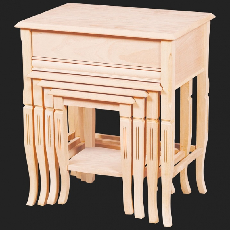 NEO-2116 English Nesting Table with Drawer