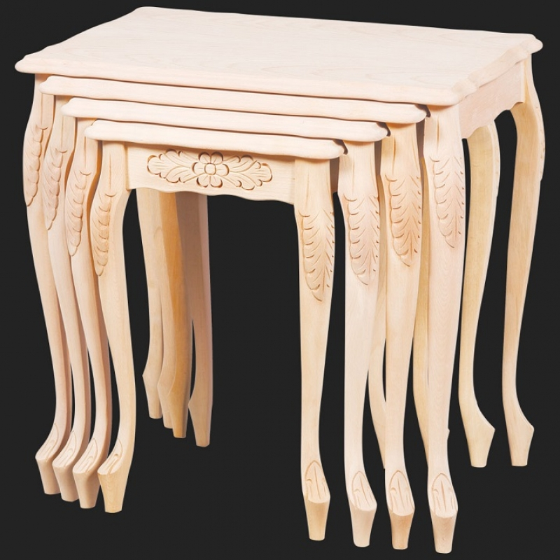 NEO-2118 Tall Carved Nesting Table