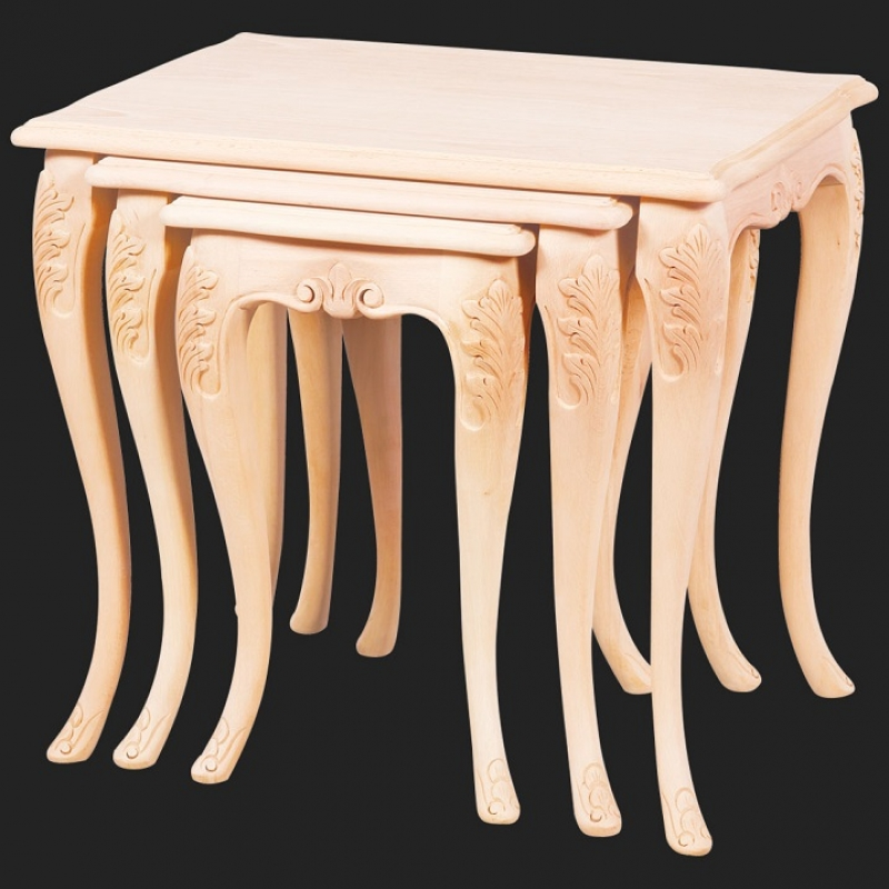 NEO-2126 Kral Rustic Nesting Table