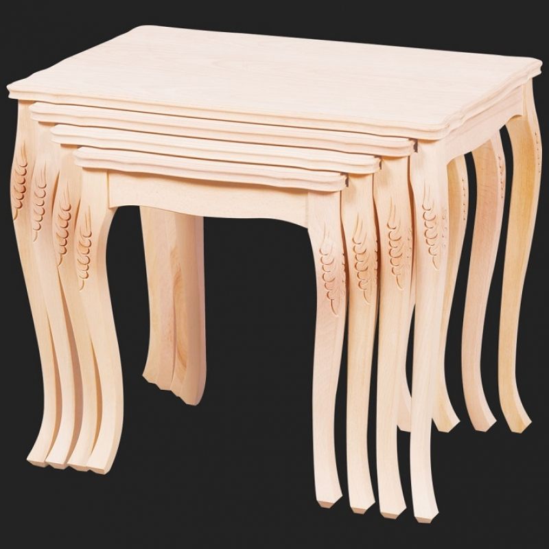 NEO-2130 Carved Nesting Table