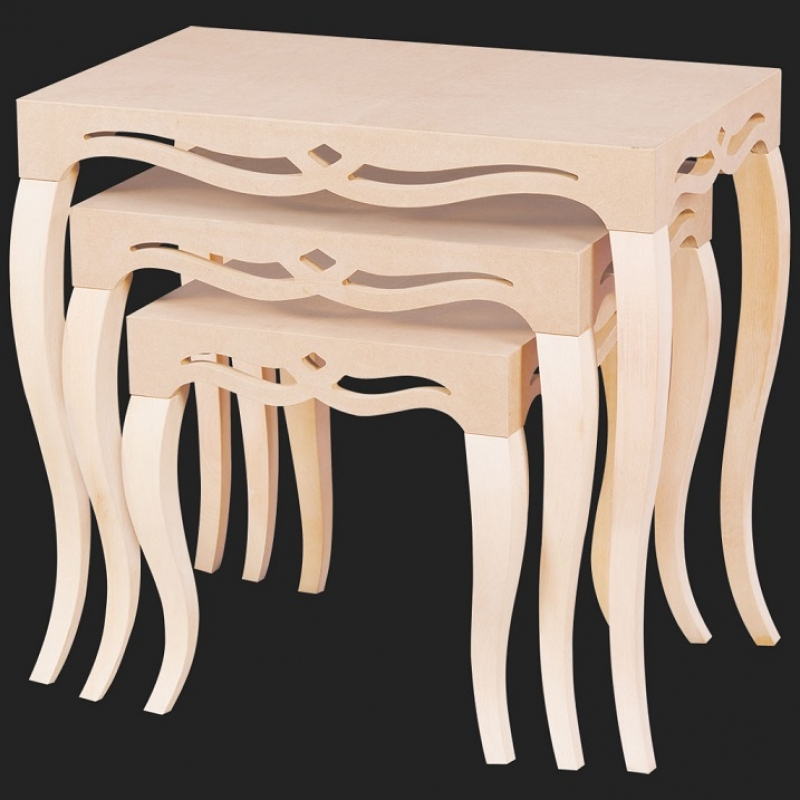 NEO-2154 Inlaid Nesting Table