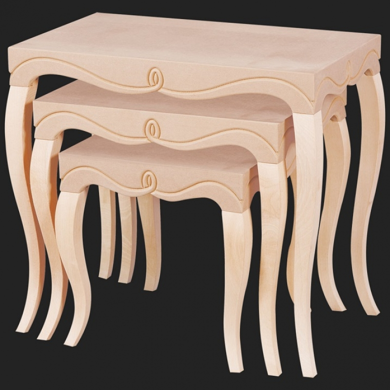 NEO-2156 Embossed Nesting Table