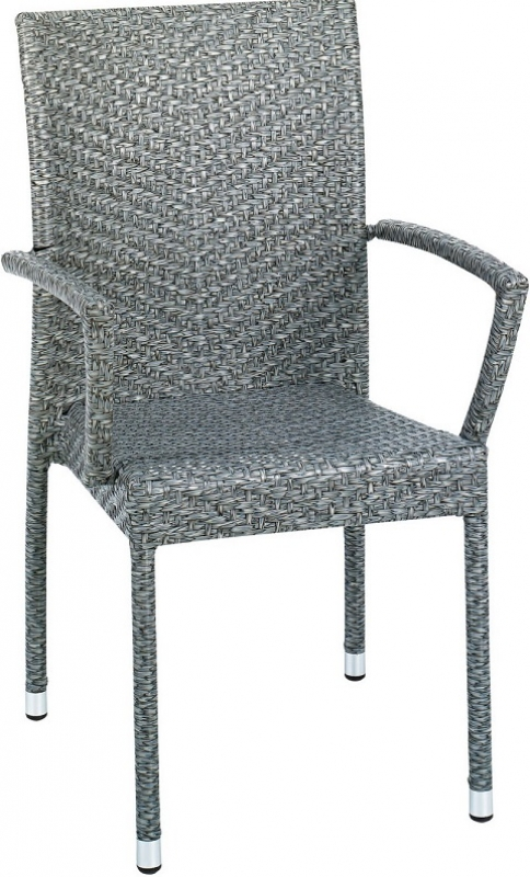 NEO-DS-121 Rattan Arm Chair Gray