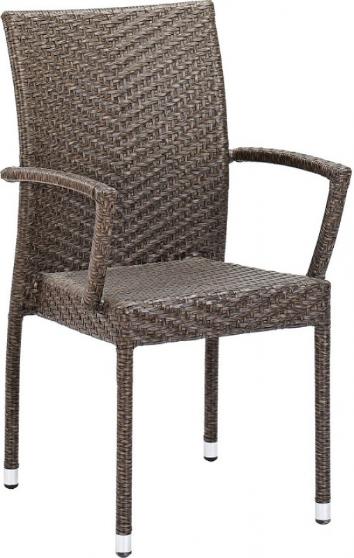 NEO-DS-121 Rattan Arm Chair Heather Brown