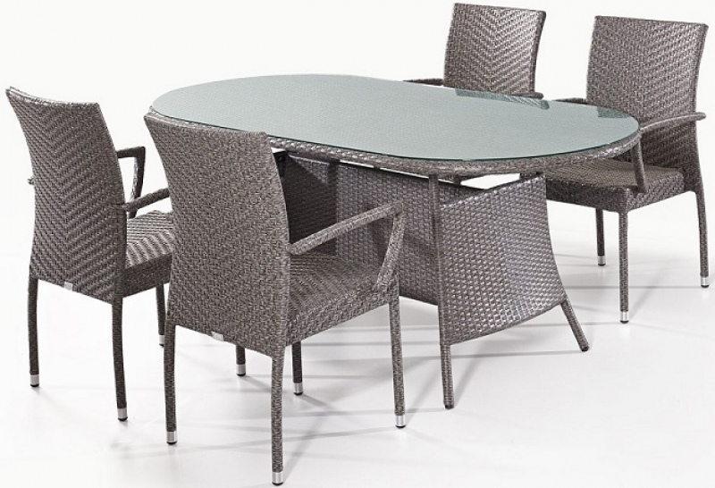 NEO-DS-121 Rattan Arm Chair and Table