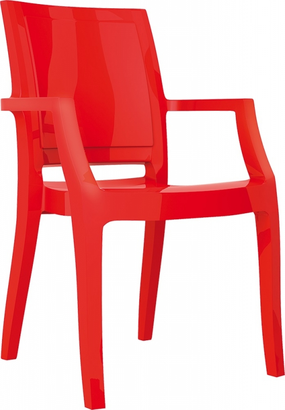 Arthur Cafe Chair Bright Red