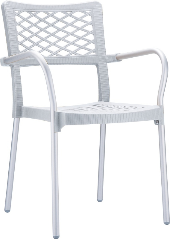 Bella Cafe Chair Silver Gray