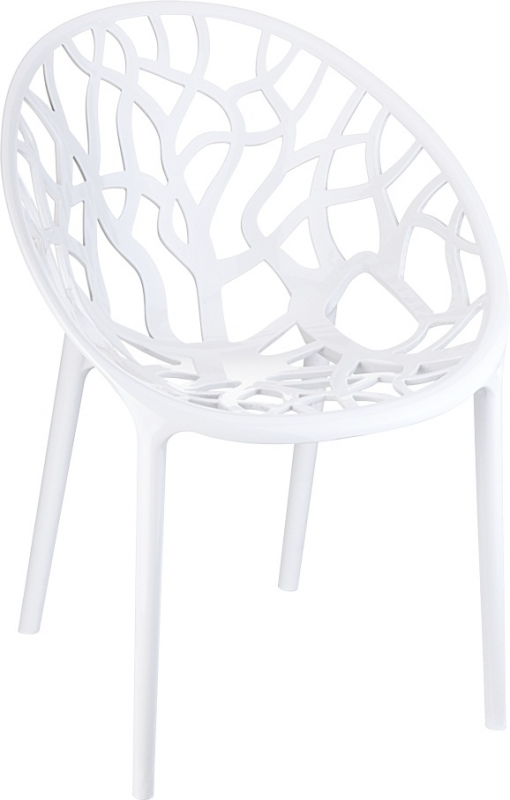 Crystal Cafe Chair Bright White