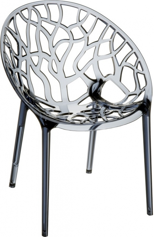 Crystal Cafe Chair Transparent Ash Gray