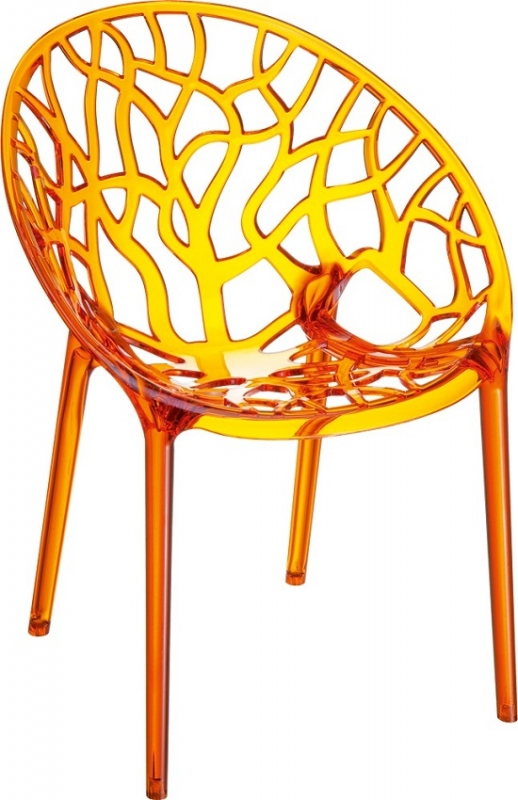 Crystal Cafe Chair Transparent Orange
