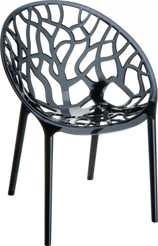 Crystal Cafe Chair Transparent Black