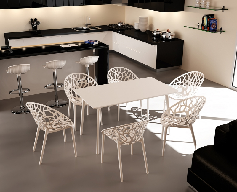 Crystal Cafe Chair and Maya 140 Table