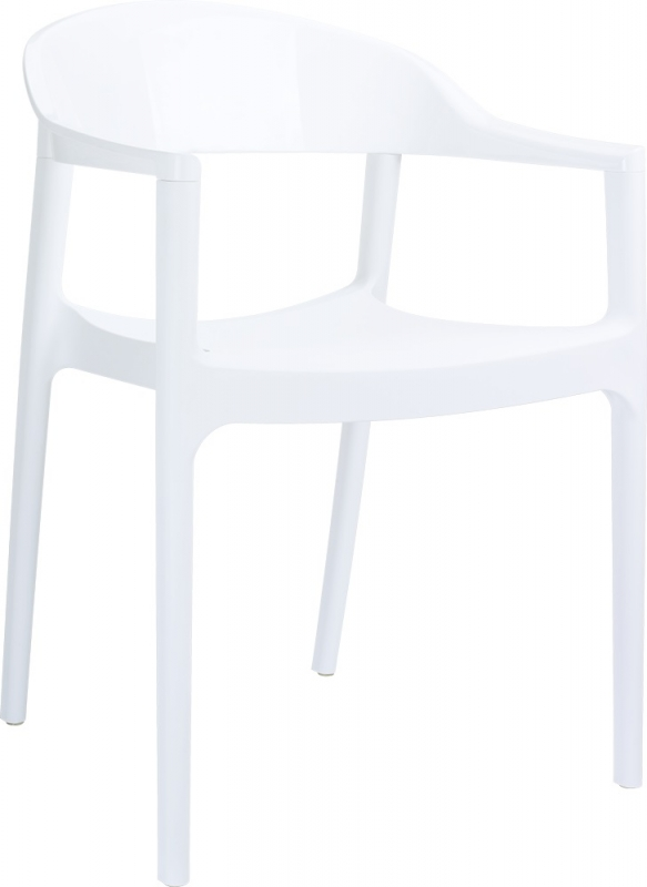Carmen Cafe Chair White/Bright Beyaz