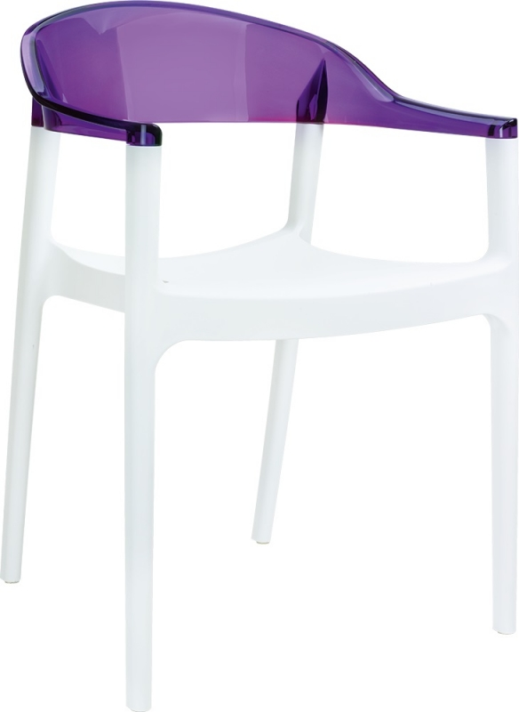 Carmen Cafe Chair White/Transparent Purple