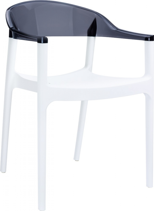 Carmen Cafe Chair White/Transparent Black