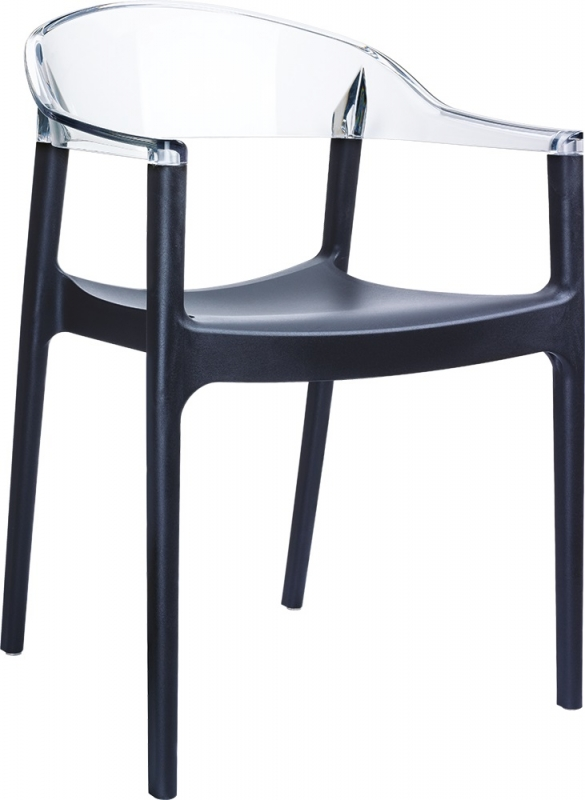 Carmen Cafe Chair Black/Transparent