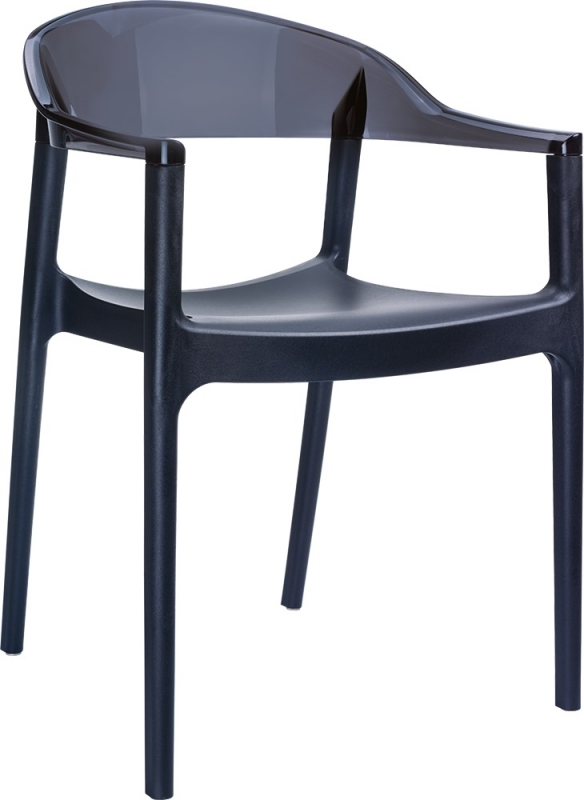 Carmen Cafe Chair Black/Transparent Black