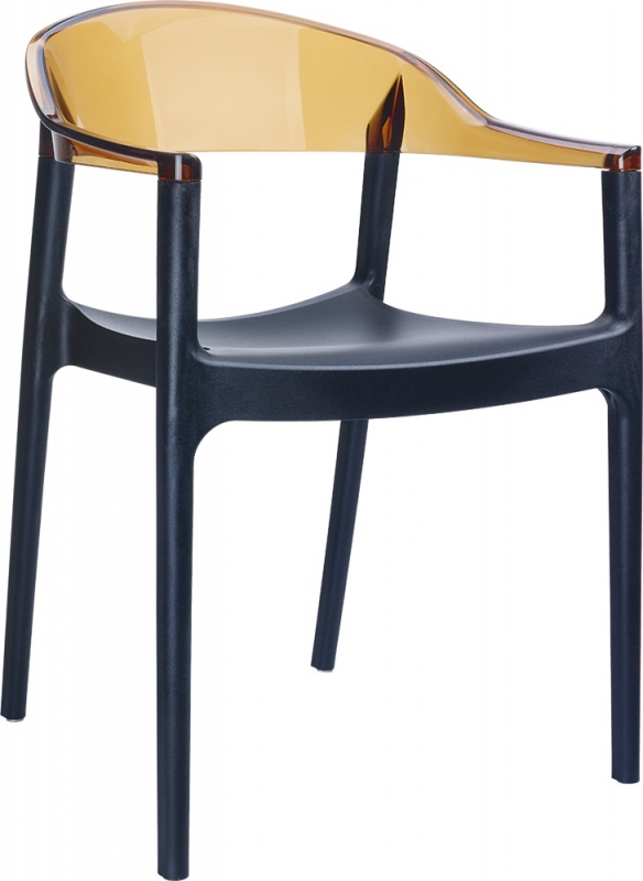 Carmen Cafe Chair Black/Transparent Brown