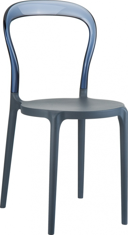 Mrbobo Cafe Chair Dark Gray/Transparent Ash Gray