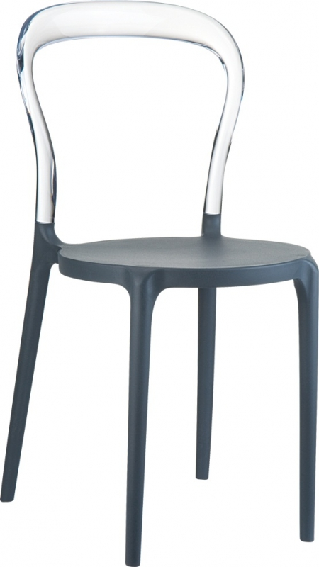 Mrbobo Cafe Chair Dark Gray/Transparent
