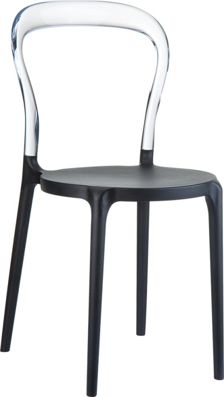 Mrbobo Cafe Chair Black/Transparent