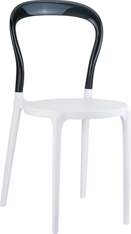 Mrbobo Cafe Chair White/Transparent Black