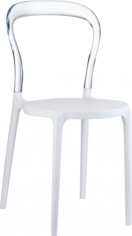 Mrbobo Cafe Chair White/Transparent